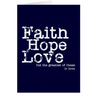 Carte vintage d'amour d'espoir de foi
