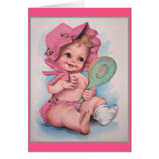 Carte vintage de bébé