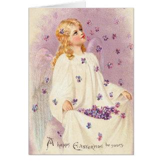 Carte vintage de bénédictions de Pâques