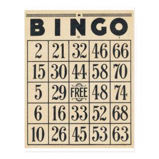 Carte vintage de bingo-test