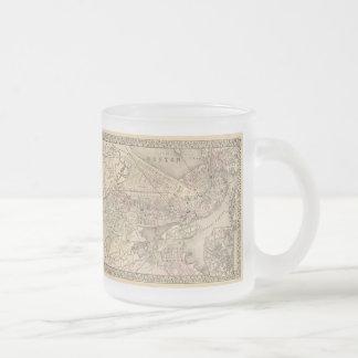 Carte vintage de Boston 1880 Mug À Café