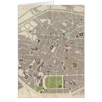 Carte vintage de Bruxelles (1837)