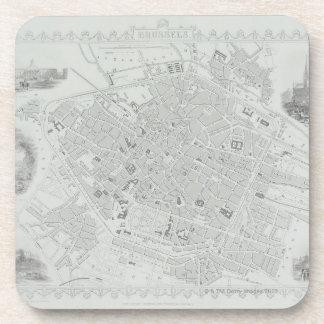 Carte vintage de Bruxelles Sous-bock