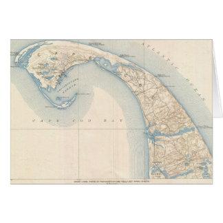 Carte vintage de Cape Cod inférieur