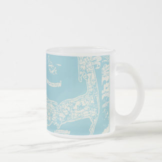 Carte vintage de Cape Cod Mug En Verre Givré