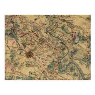 Carte vintage de champ de bataille d'Antietam