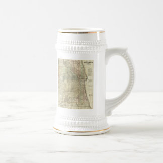 Carte vintage de Chicago (1857) Tasse