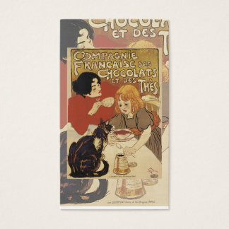 Carte vintage de chocolat chaud