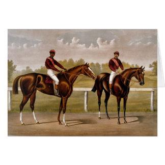 Carte vintage de course de chevaux de KRW -
