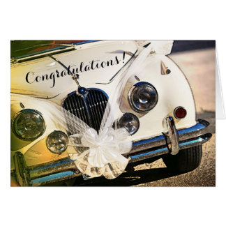 Carte vintage de félicitations de mariage de