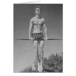 Carte vintage de gymnaste