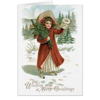 Carte vintage de Joyeux Noël