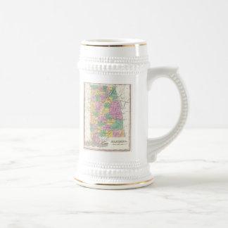Carte vintage de l Alabama 1827 Mugs À Café