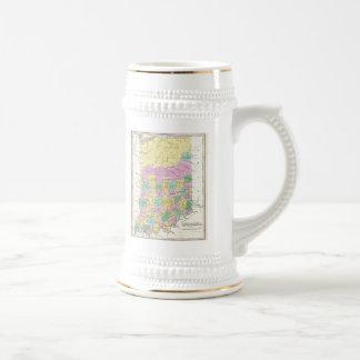 Carte vintage de l Indiana 1827 Mugs