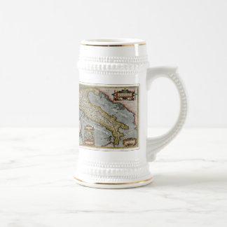 Carte vintage de l Italie 1584 Mugs À Café