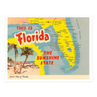 Carte vintage de la Floride