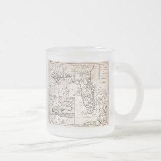 Carte vintage de la Floride (1763) Tasse À Café