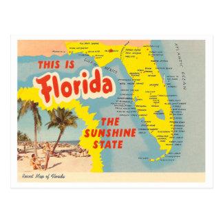 Carte vintage de la Floride Carte Postale