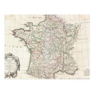 Carte vintage de la France (1771)