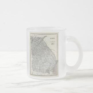 Carte vintage de la Géorgie (1845) Mug