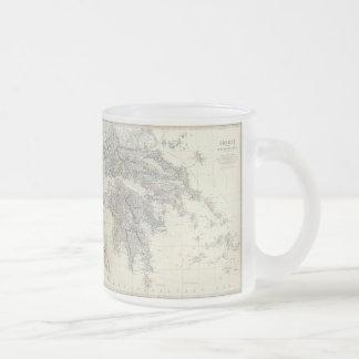 Carte vintage de la Grèce (1861) Mug En Verre Givré