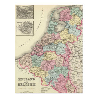 Carte vintage de la Hollande et de la Belgique Cartes Postales