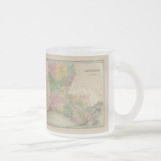 Carte vintage de la Louisiane (1838) Mug À Café