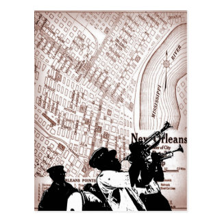 Carte vintage de la Nouvelle-Orléans