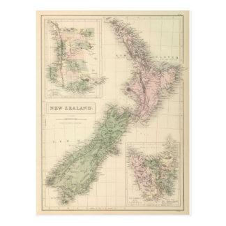 Carte vintage de la Nouvelle Zélande (1854)