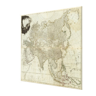 Carte vintage de l'Asie (1757) Toiles