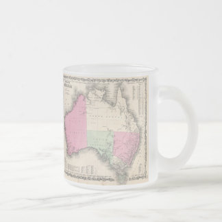 Carte vintage de l'Australie (1862) Mug