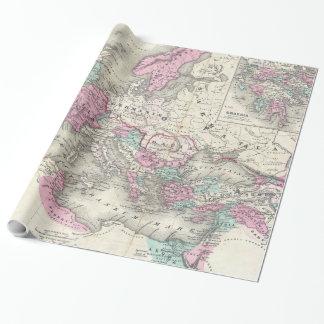 Carte vintage de l'empire romain (1862) papier cadeau