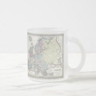 Carte vintage de l'Europe (1855) Mugs