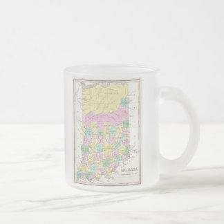 Carte vintage de l'Indiana (1827) Mugs