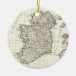 Carte vintage de l'Irlande (1771) Ornements De Noël