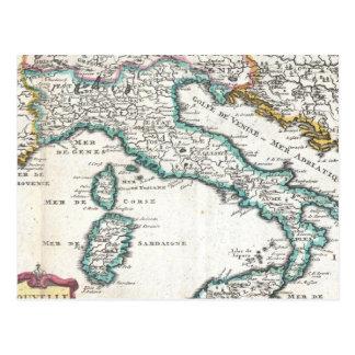 Carte vintage de l'Italie (1706) Carte Postale