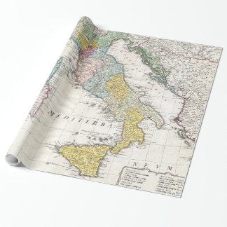 Carte vintage de l'Italie (1742) Papier Cadeau Noël