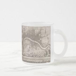 Carte vintage de Londres (1693) Mug En Verre Givré