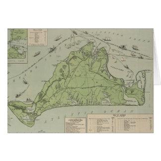 Carte vintage de Marthas Vineyard (1913)