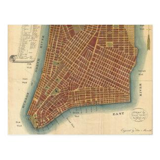 Carte vintage de New York City inférieur (1807)
