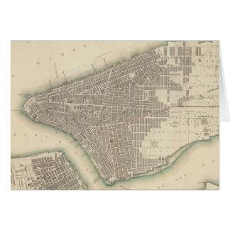 Carte vintage de New York City inférieur (1840)