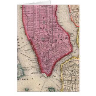 Carte vintage de New York City inférieur (1860)
