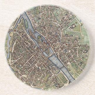 Carte vintage de Paris (1657) Dessous De Verre