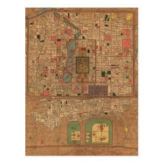 Carte vintage de Pékin Chine (1914)