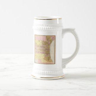 Carte vintage de Philadelphie (1846) Mug