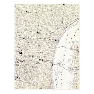 Carte vintage de Philadelphie (1885)