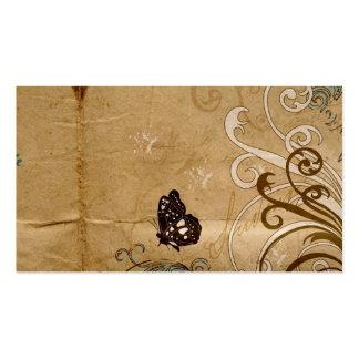 Carte vintage de profil de papillon carte de visite standard