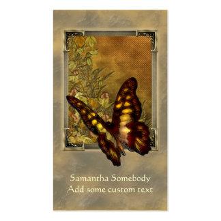 Carte vintage de profil d'illustration de papillon modèle de carte de visite