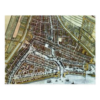 Carte vintage de Rotterdam Pays-Bas (1649) Cartes Postales