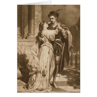 Carte vintage de Saint-Valentin de Romeo et de